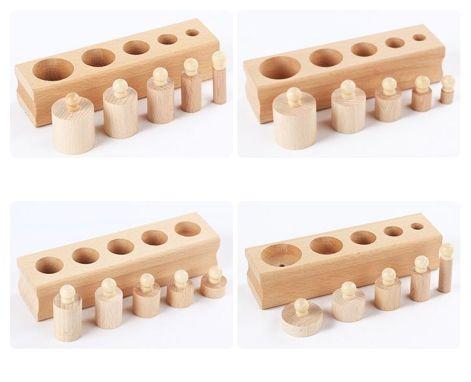Montessori low-cost. Set cilindros para encajar