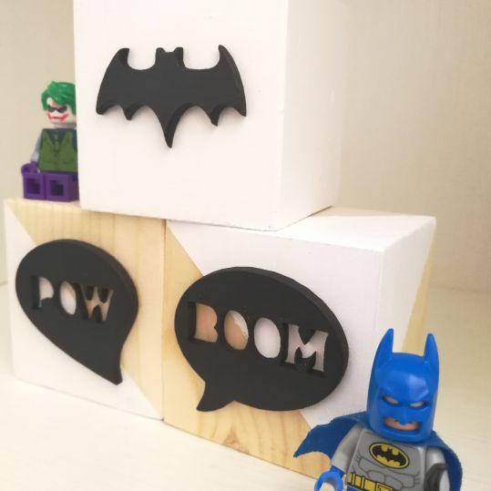 Cubos madera Batman