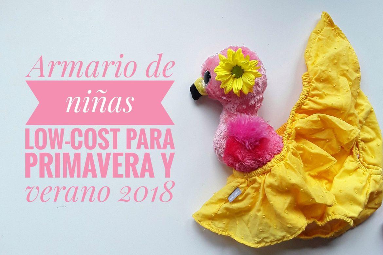 Armario de niñas low-cost. Flamingo y cubrepañal amarillo