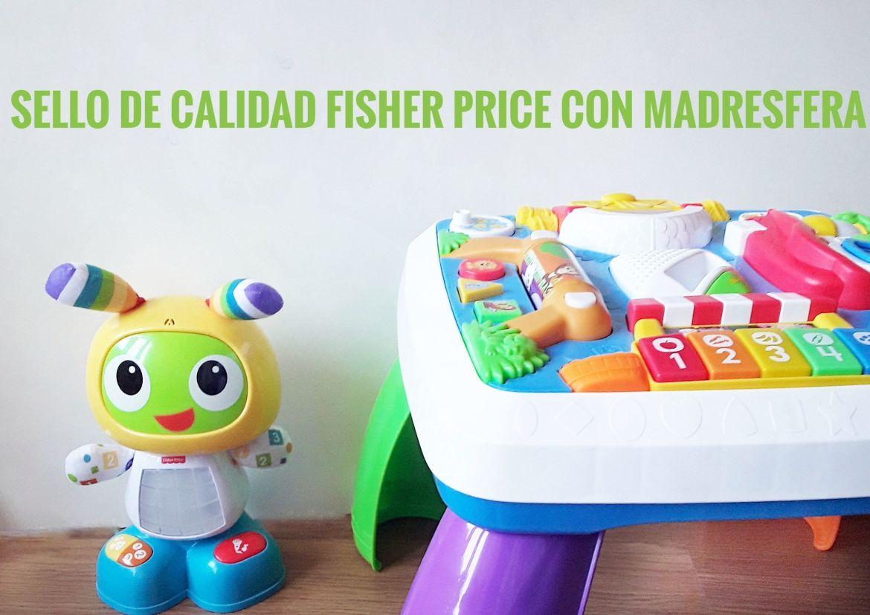 Fisher price. Mesa y Robot Robi para el título.