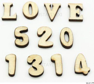 Letras y números para manualidades y para lecto-escritura.