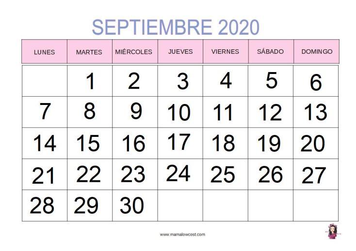Cal septiembre 2020