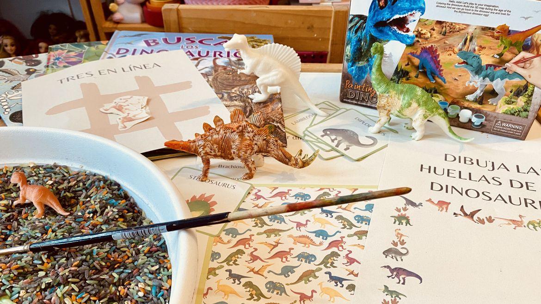 dinosaurios y material imprimible