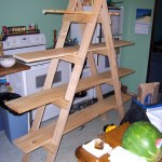Make Your Own Ladder Shelf For Your Craft Show Display Mama Made Them