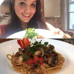 spaghetti and spicy mushrooms healthy recipe bbc good food tinkerdash
