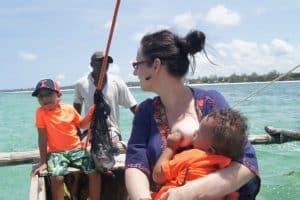 breastfeeding on a boat