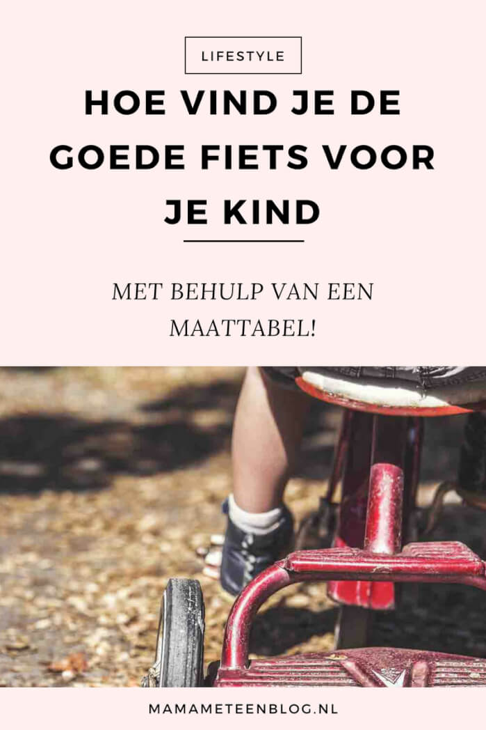 MAATTABEL KINDERFIETS MAMAMETEENBLOG.NL