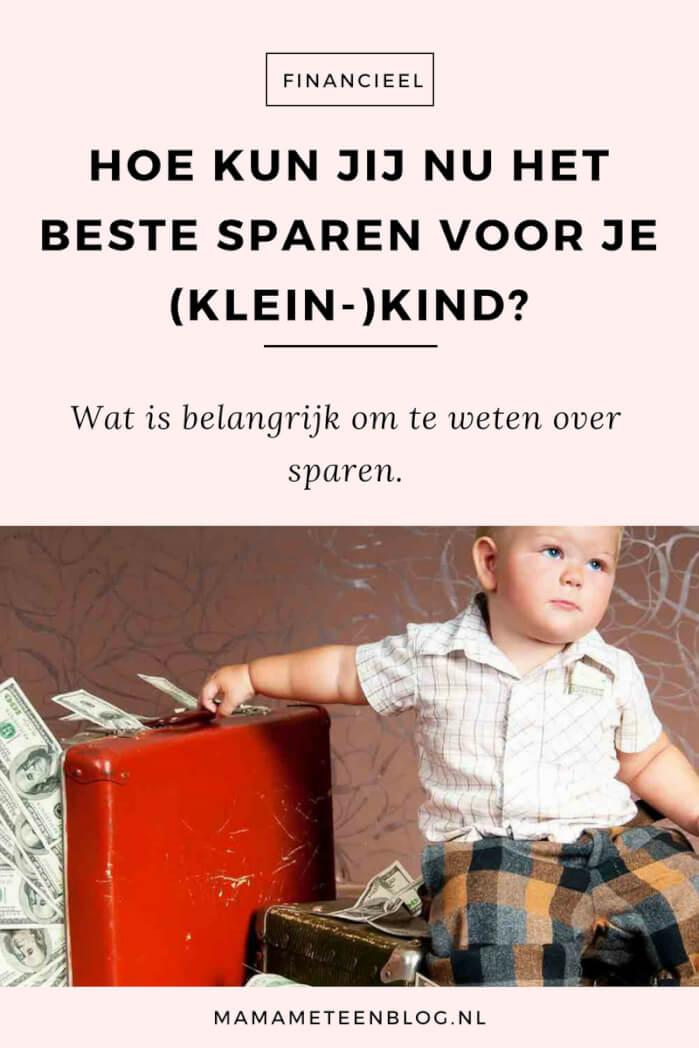 sparen voor je kind mamameteenblog.nl