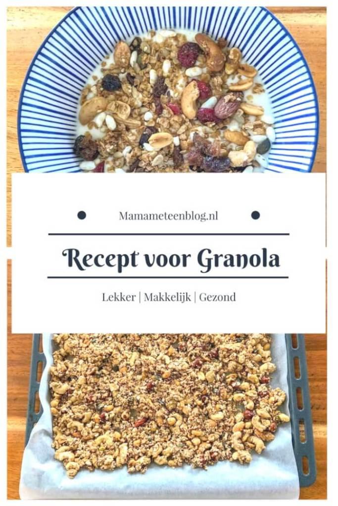 Recept voor Granola zelf maken mamameteenblog.nl