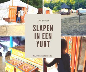 Slapen in een Yurt mamameteenblog