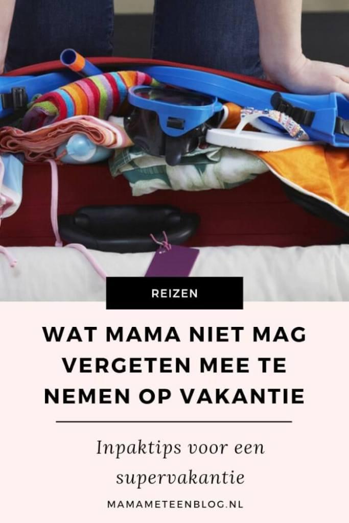 vakantie inpaktips mamameteenblog.nl
