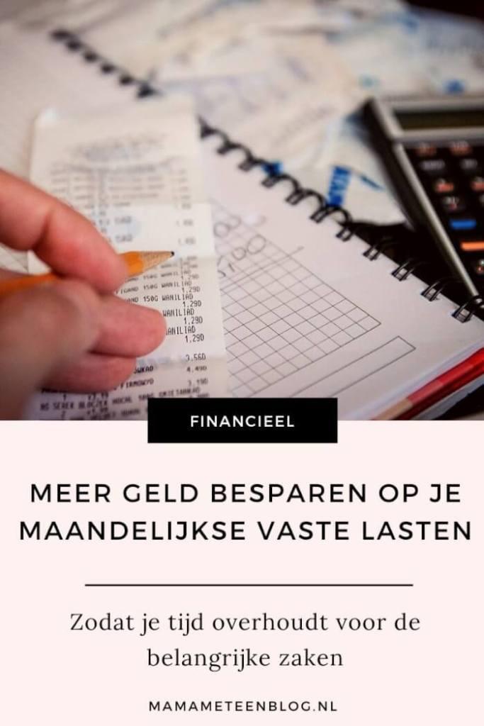 geld bespaartips op je vaste lasten mamameteenblog.nl