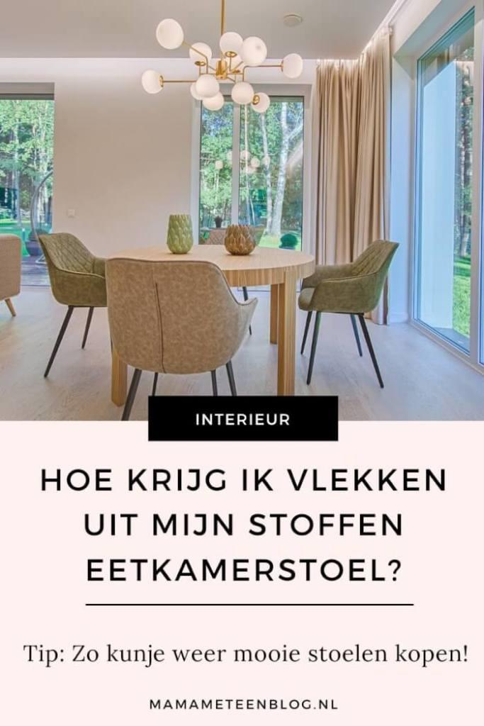 vlekken uit eetkamerstoelen mamameteenblog.nl
