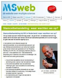 MSweb column J. v. Amstel
