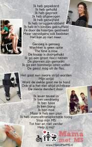 Mama met MS - Gedicht