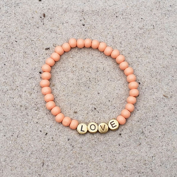 Kralenarmband Peach Love