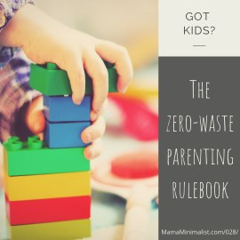 Uncommon strategies to cut back on waste production with children.