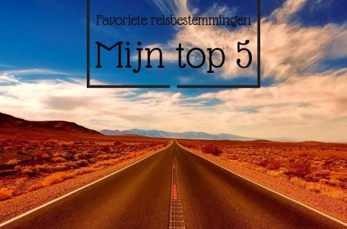 top 5 reisbestemmingen