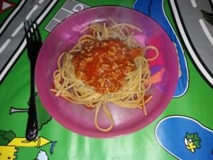 kidsproof recepten spaghetti