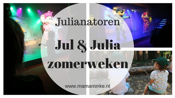 In de Julianatoren zijn de Jul en Julia zomerweken. Met een gloednieuwe show waarin ze de wereld rond reizen. Zouden ze de boeven weer te slim af zijn? Bij kijk de flim en lees onze blog met onze ervaringen.