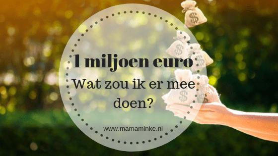 1 miljoen euro, blog challenge