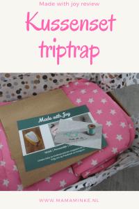 review made with joy webshop handgemaakte baby- en kinderproducten kussenset voor de trip trap stoel van Stokke