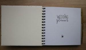 Weddingplanner, de eerste bladzijde