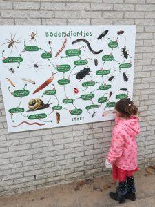 Nieuwe leerborden schoolplein, bodemdieren