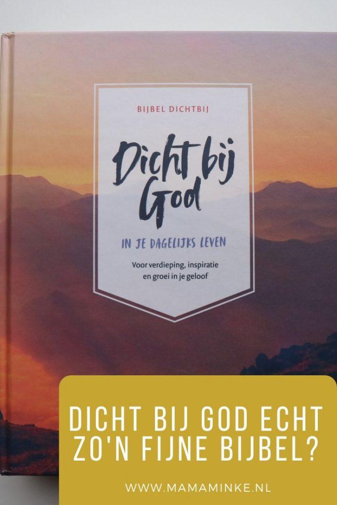 Dichtbij God Bijbel pinterest