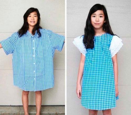 古い服から作る方法新しい5