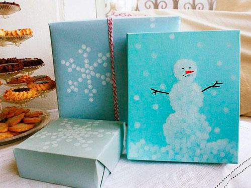 Smukt pakk gaver til det nye år 9