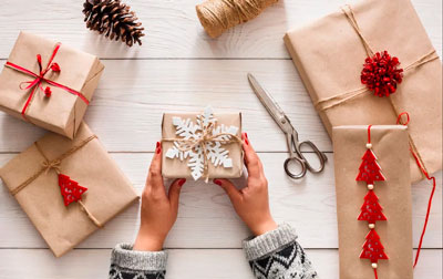Smuk gaveemballage med egne hænder til det nye år 4