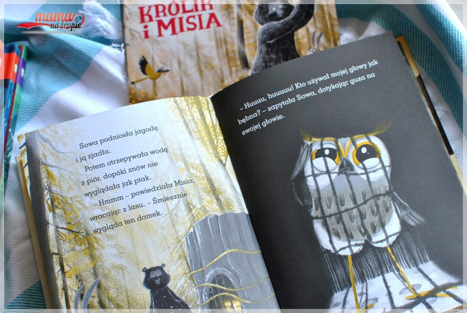 królik i misia, sposób na przekąskę, zielona sowa, książka dla dzieci