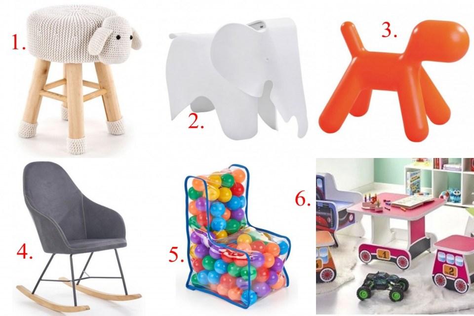 dodatki do pokoju, edinos, pokój dziecięcy, pokój dziecka, krzesło dla dziecka,