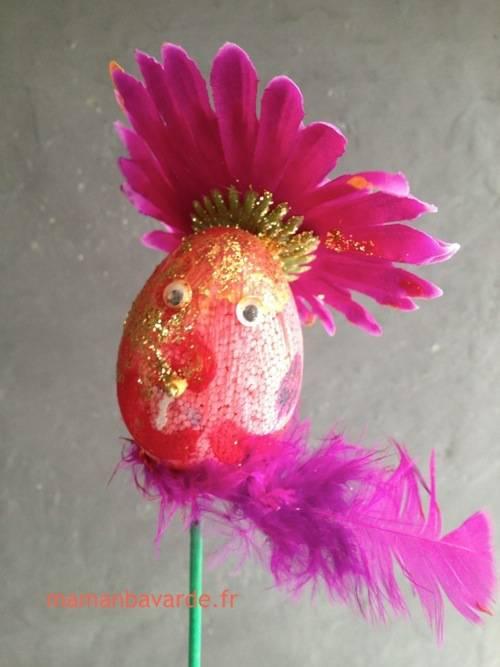 diy oeuf de pâques fleur