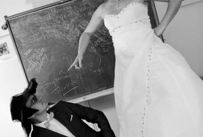 mariage et bottes en caoutchouc