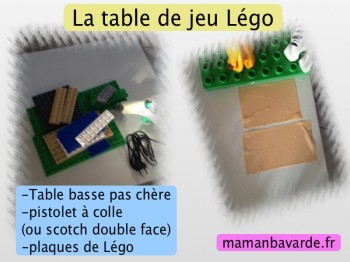 table de jeu légo