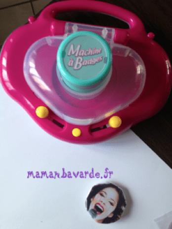 anniversaire thème violetta badges