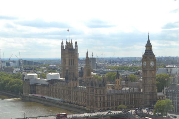 London Eye vue sur Big Ben