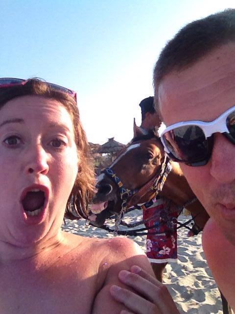 selfie cheval