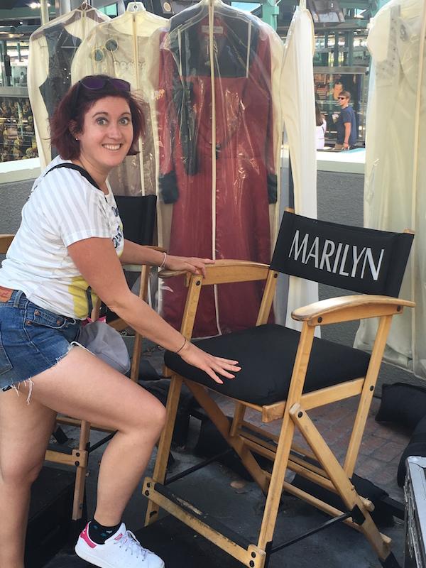 Universal studios chaise de marylin Monroe