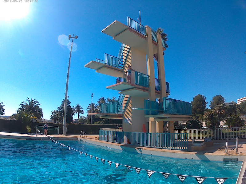 plongeoir de 5 mètres