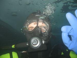 la plongée sous glace