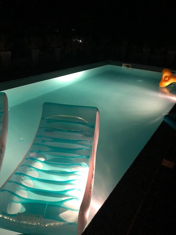 requin dans la piscine