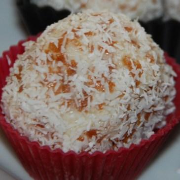 Bouchées coco aux crêpes dentelles
