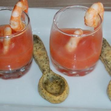 Rougail de tomate aux crevettes