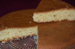 Gâteau aux jaunes d'oeuf et à la vanille