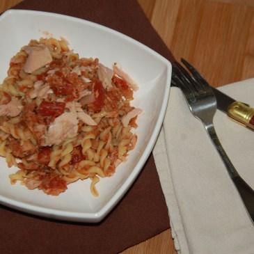Tortis au thon à la tomate