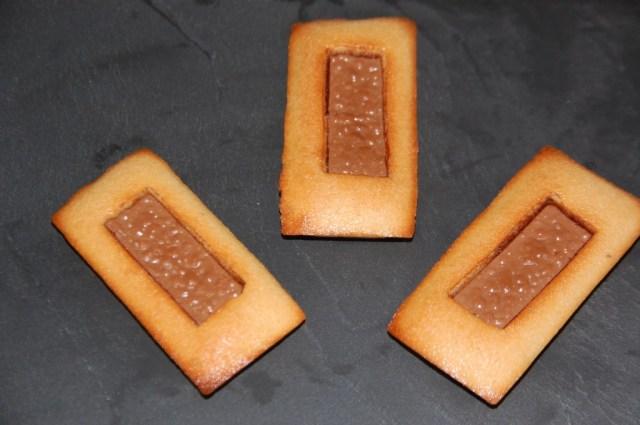 Financiers au chocolat praliné
