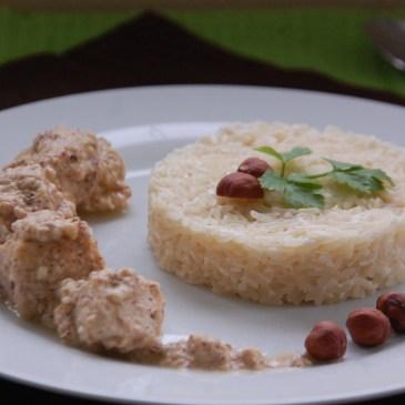 Poulet noisette et riz coco